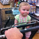 She LOVES to ride in carts. She giggles a good chunk of the time.