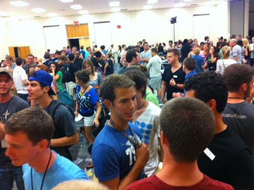 This is what UCF Cru's first meeting looked like.