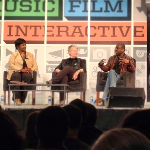 One of the panels I went to at SXSW.  In the picture are Dr Mae Jemison (astronaut), Dr Jill Tarter (scientist), and LeVar Burton (fictional astronaut).