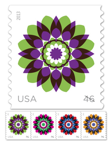 While the Postal Service does have Eid stamps, the ones identified in the email (above) are not them. These are part of the Kaleidoscope Flowers collection.