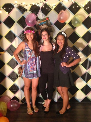 "3 Generations of Discipleship Mia, Haley & Fernanda at a recent Cru ""decades party."""